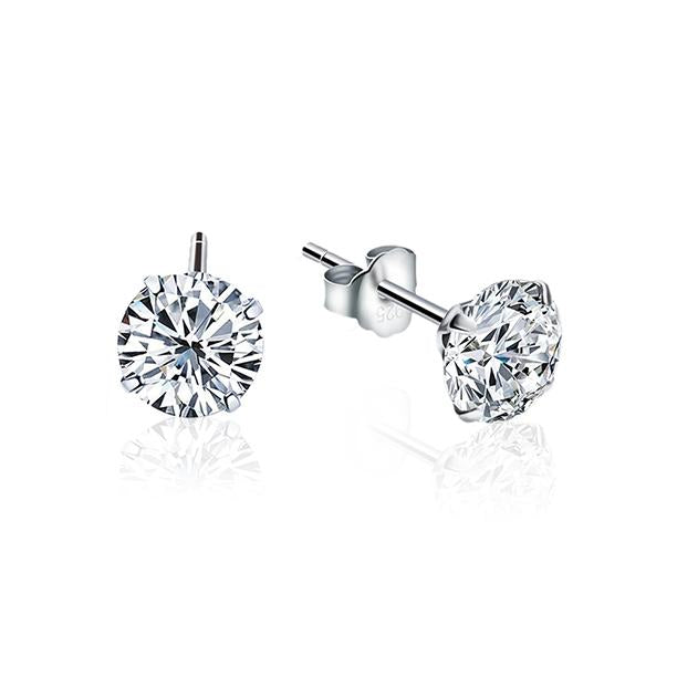 925 Sterling Silver Brilliant Cut CZ Earrings