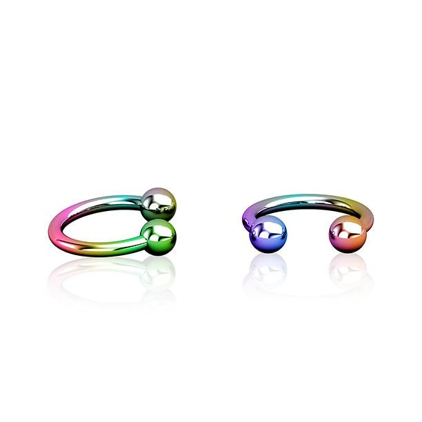 1.2mm Rainbow Titanium Circular Barbell Wholesale Piercing Jewellery UK