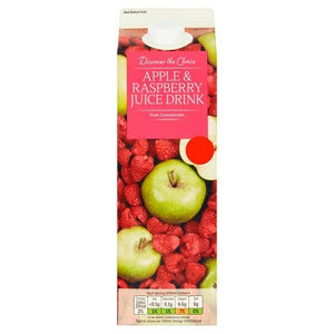 Discover the choice apple and raspberry juice
