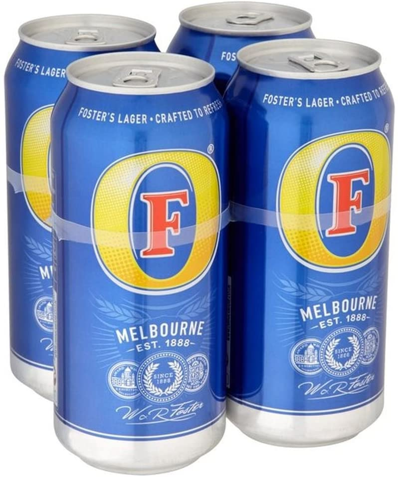 4 pack - Fosters Beer