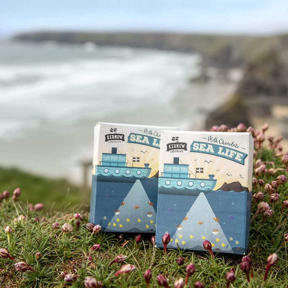 Kernow sea life chocolates shapes bag