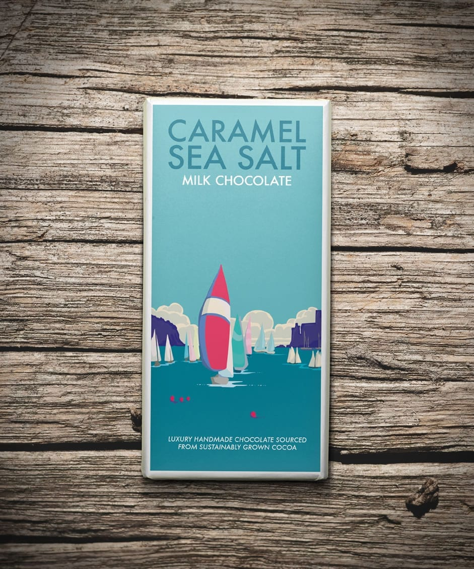 Kernow Salted Caramel Chocolate Bar