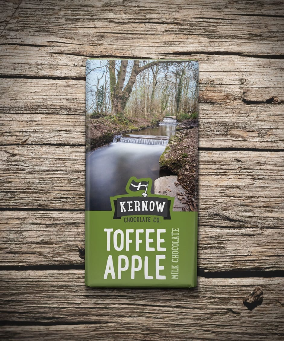 Kernow chocolate bars - Toffee apple