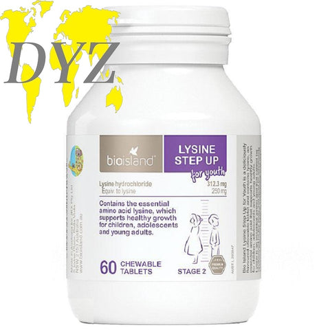 Bio Island Lysine Step Up for Youth (60 Tablets)