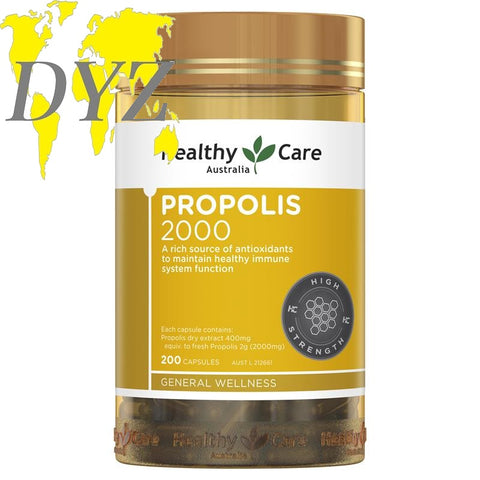 Healthy Care Propolis 2000mg (200 Capsules)