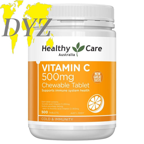Healthy Care Vitamin C 500mg Chewable (500 Tablets)