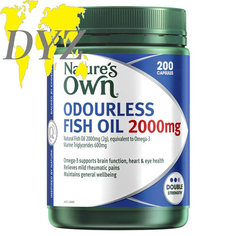 Nature's Own Odourless Fish Oil 2000mg (200 Capsules)