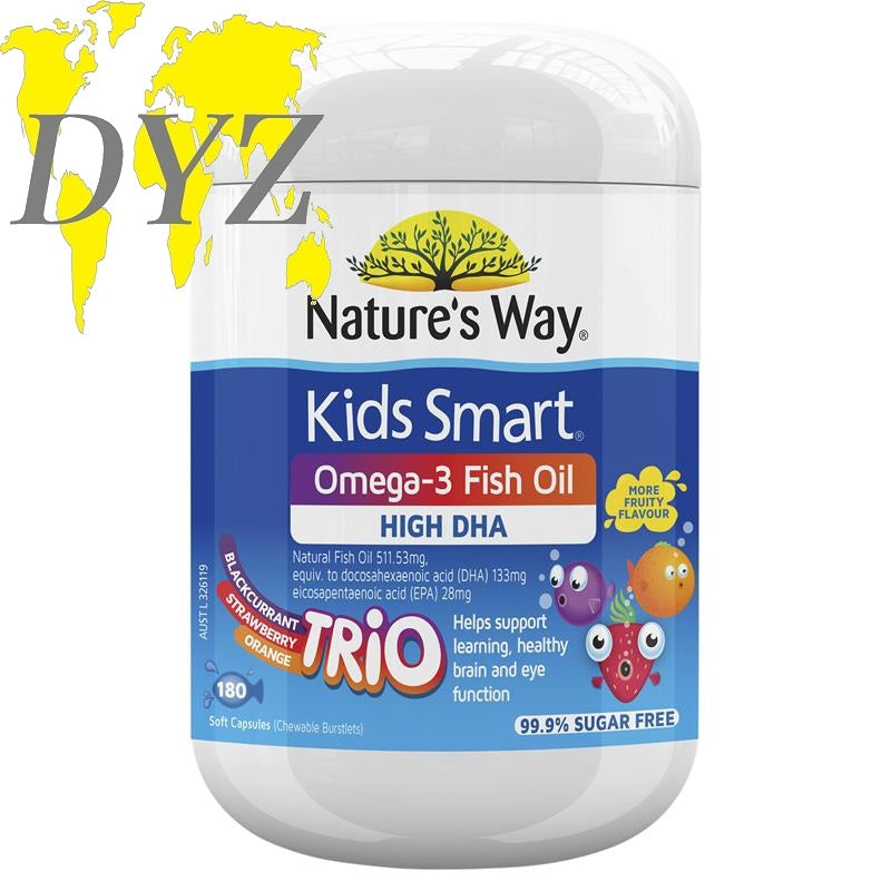 Nature's Way Kids Smart Omega-3 Fish Oil Trio (180 Capsules)
