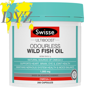 Swisse Ultiboost Odourless Wild Fish Oil (200 Capsules)