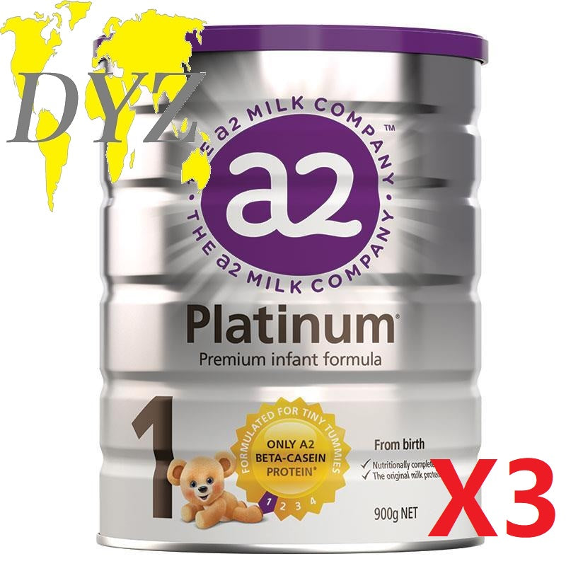 a2 Platinum Premium Stage 1 Infant Formula (900g) [X3]