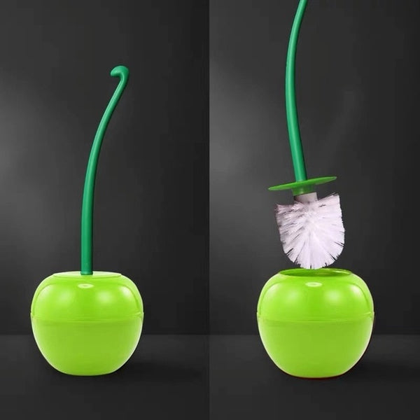 Estiorm Cute Cherry Shape Toilet Brush and Holder