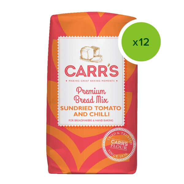 NEW Carr's Sundried Tomato & Chilli Bread Mix 500g CASE