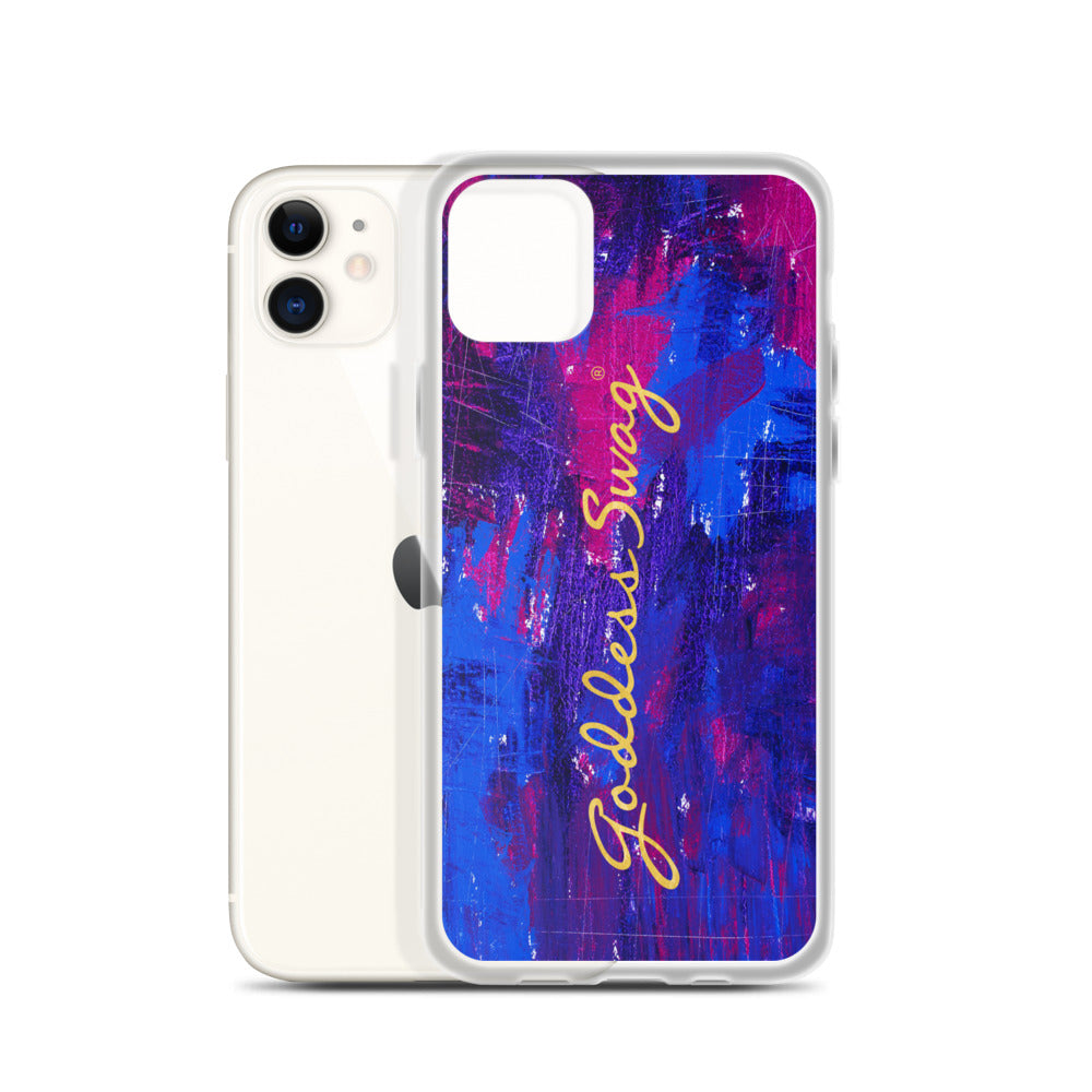 Goddess Swag™ Beautiful Blue Chaos iPhone Case