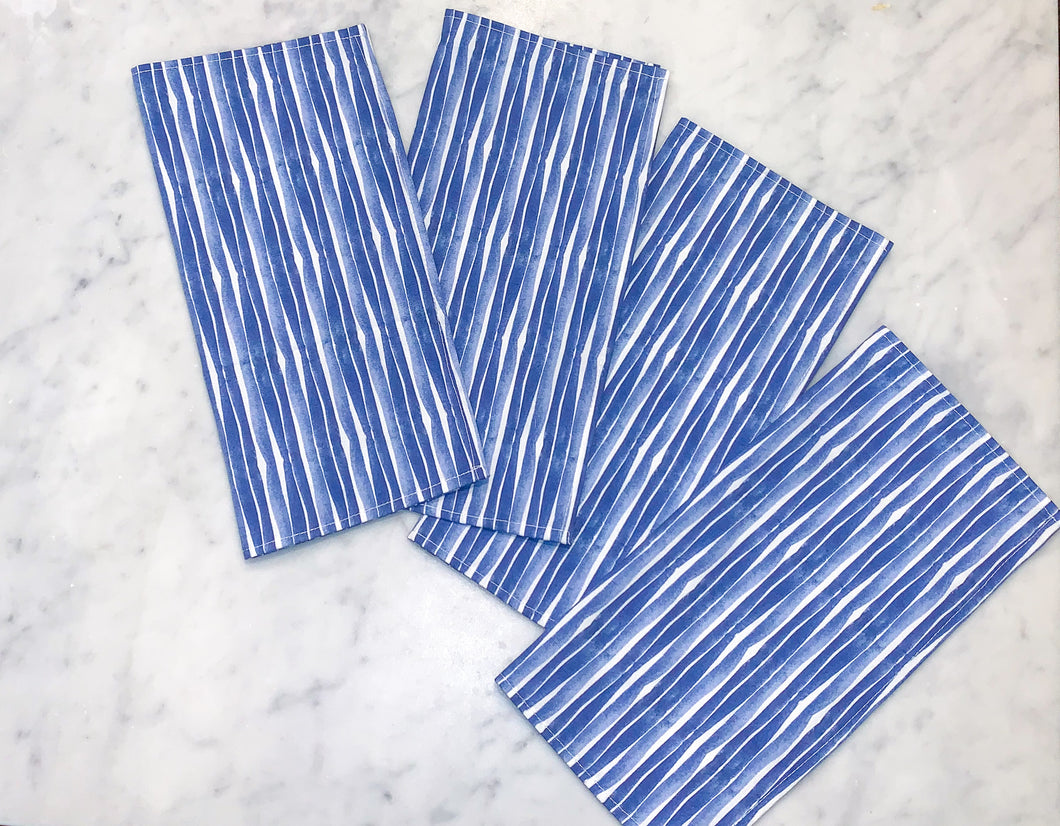 Sea Stripe Napkins, Set of 4