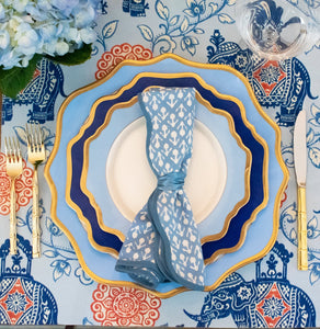 Blue Elephant Tablecloth