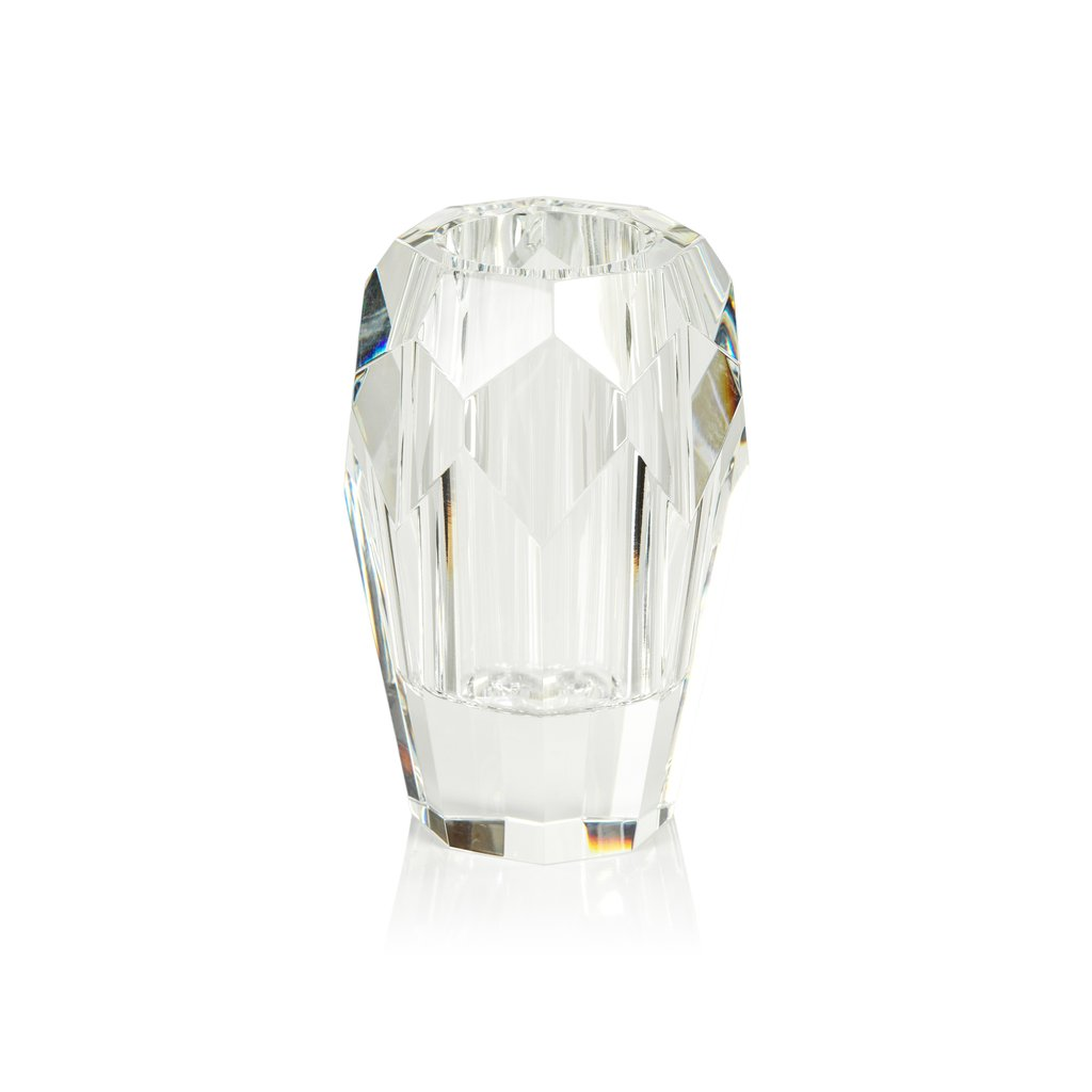 Veniza Cut Crystal Vase - Clear