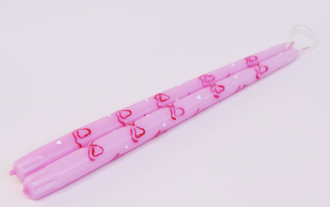 Valentines Day Limited Edition set of taper candles