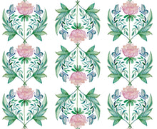 Load image into Gallery viewer, Round Scalloped Placemat | Garden Rose