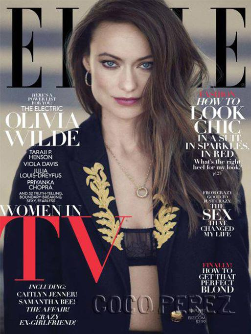 Jamie Wolf - Elle Magazine featuring the Open Pave Aladdin Necklace
