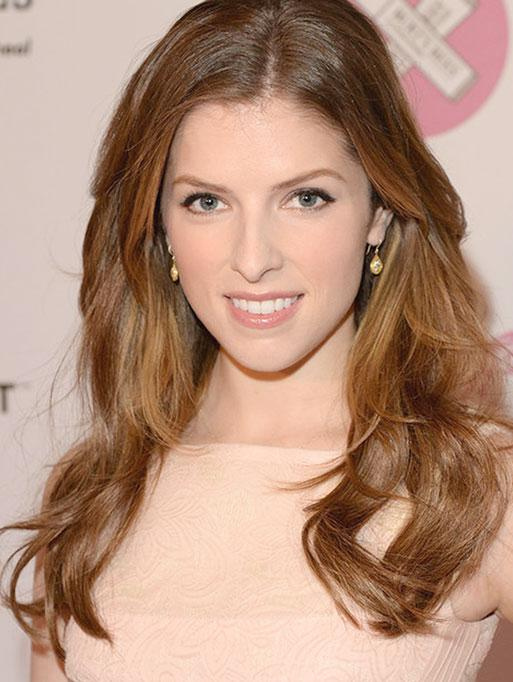 Anna Kendrick wearing the Bohemian Pear Earrings
