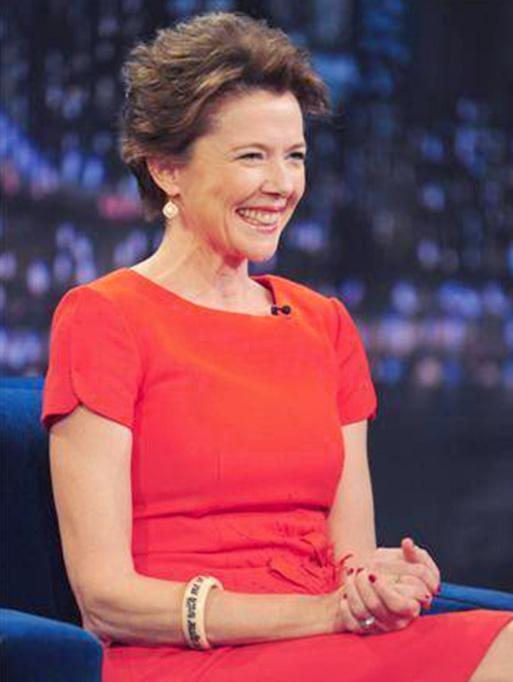Annette Bening wearing the Interior Pave Earrings
