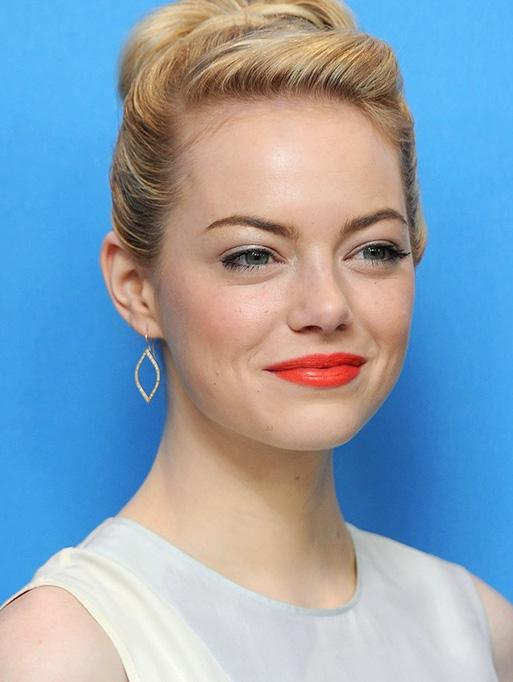 Emma Stone wearing the Small Marquis Earrings