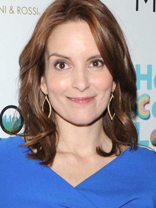 Tina Fey wearing the Marquis Earrings