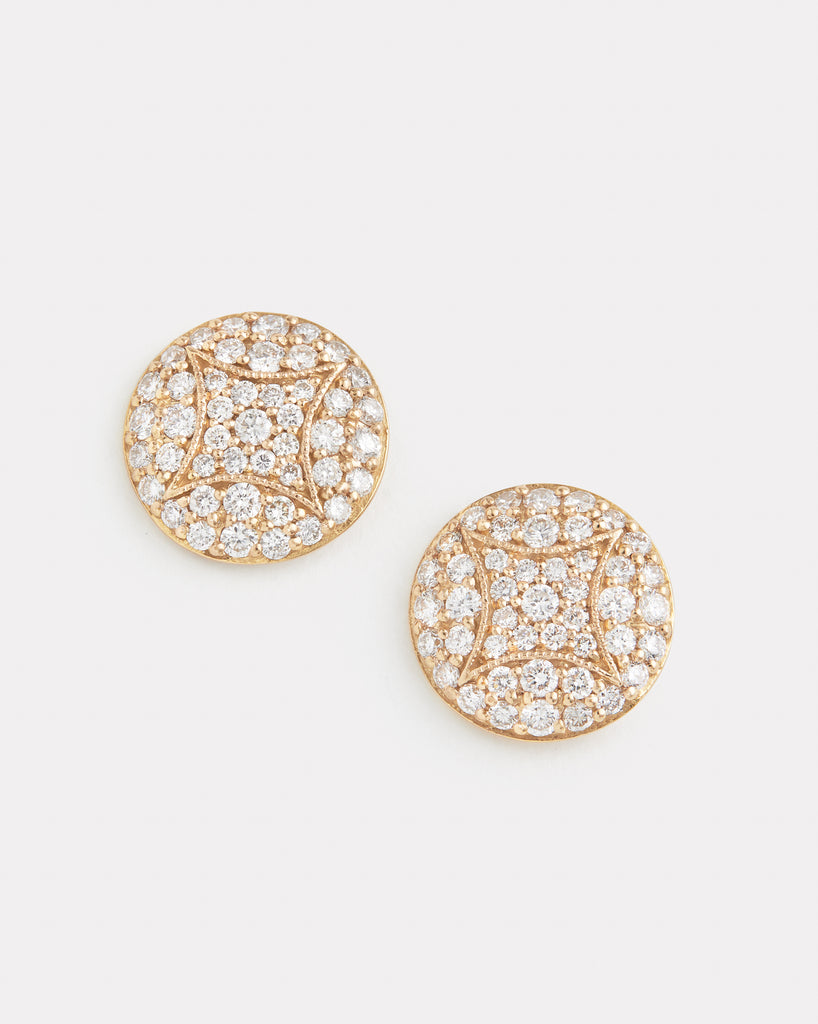 Aladdin Studs with Diamonds