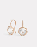 Blossom Drop Earrings with White Topaz