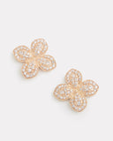Diamond Flower Stud