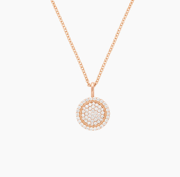 Scallop Pavé Necklace