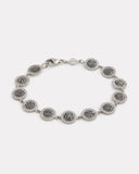 Black and White Diamond Disc Bracelet