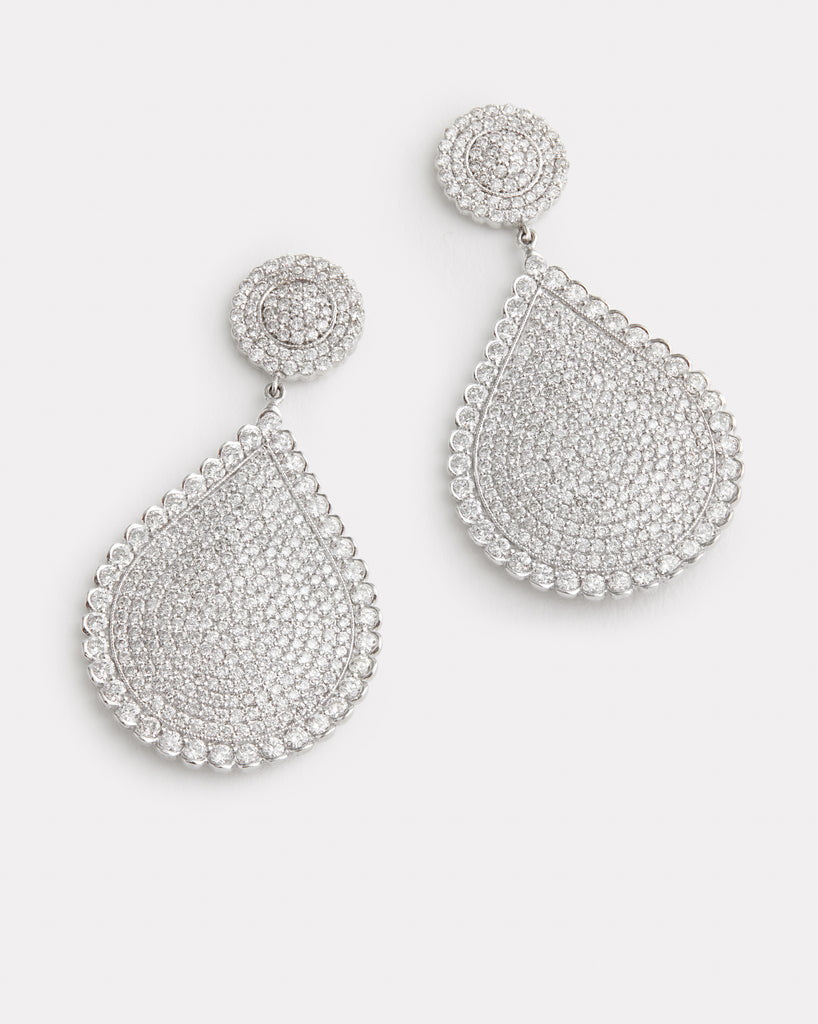 Diamond Pear Shape Earring