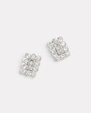 Rectangle Diamond Stud