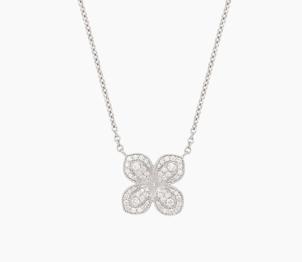 Pavé Flower Necklace