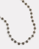 Black and White Diamond Disc Necklace