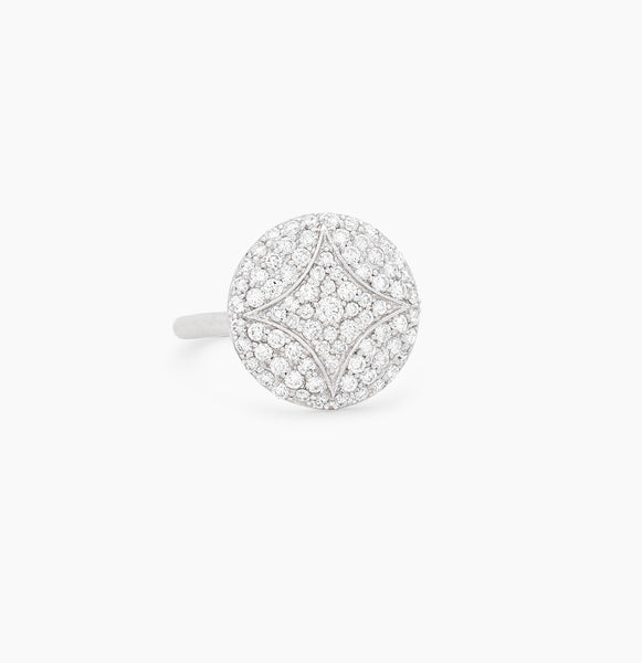Large Pavé Aladdin Disc Ring