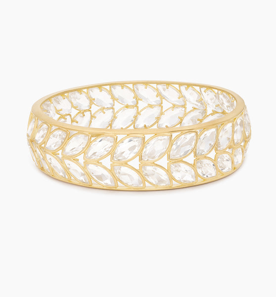 White Topaz Marquis Bangle