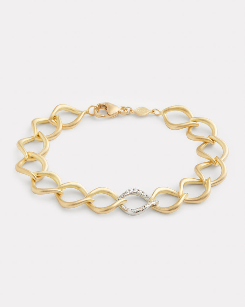 Aladdin Link Bracelet with Diamond Link