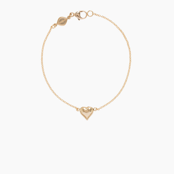 Little Wolf Small Heart Bracelet