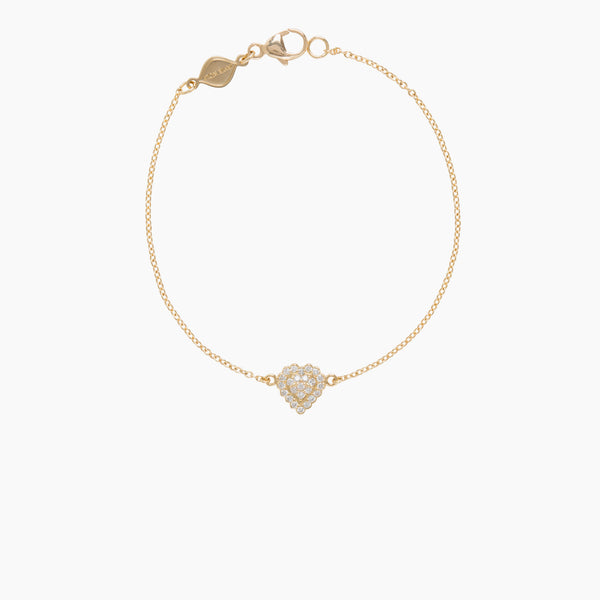 Little Wolf Small Diamond Heart Bracelet