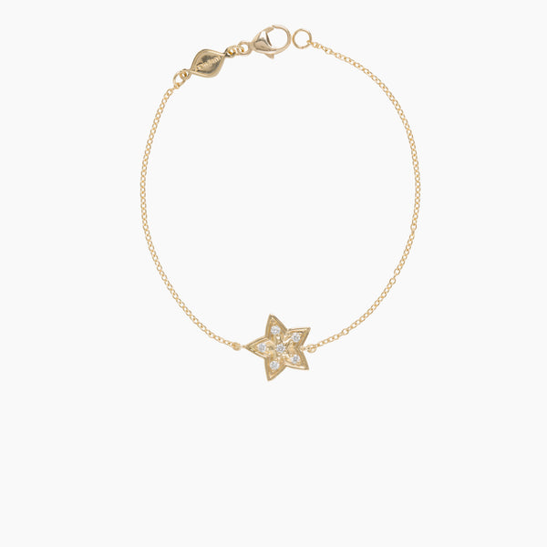 Little Wolf Diamond Star Bracelet