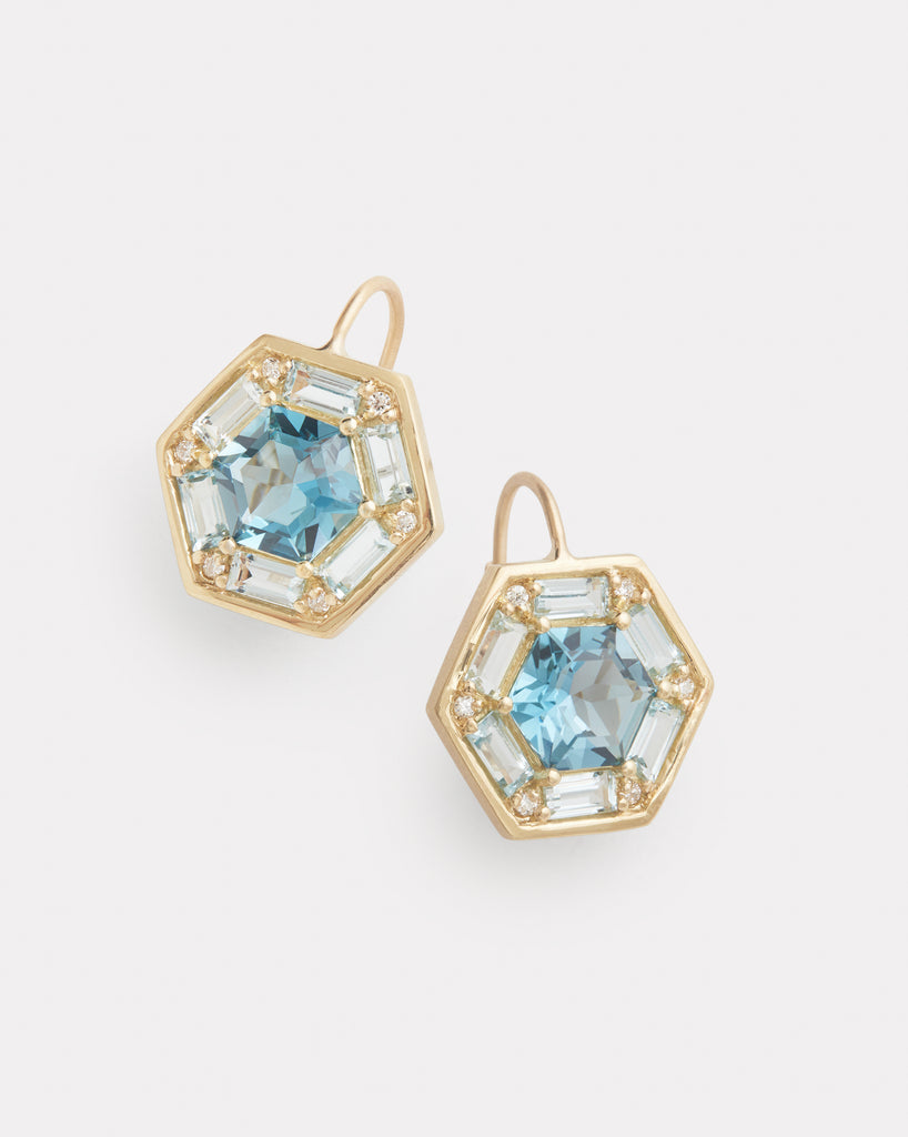 Mosaic Octagon Earring