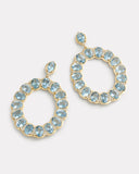 Oval Aquamarine and Diamond Earring