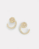 Spiral Diamond Earring