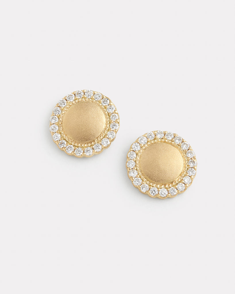 Diamond Edge Disc Studs