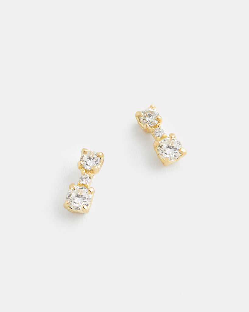 Duet Diamond Stud