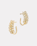 Petite Vine Hoops with Diamonds
