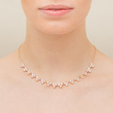 Morganite Cluster Necklace