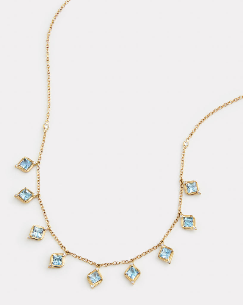 Princess Cut Drop Necklace